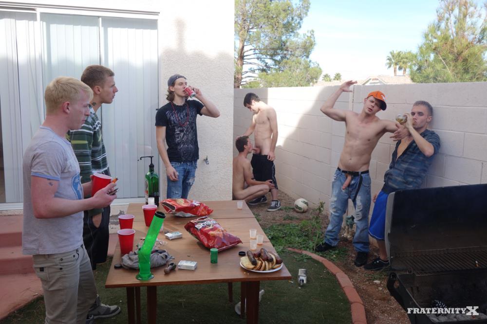 Fraternity-X-Chris-Getting-Barebacked-By-Drunk-Frat-Guys-Amateur-Gay-Porn-13 Drunken Straight Frat Boys Take Turns Barebacking A Bottom