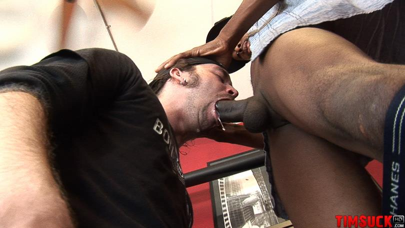 """Treasure-Island-Media-TimSuck-Trevor-and-Javin-Big-Black-Cock-Sucking-Amateur-Gay-Porn-07 White Guy Worshipping A 13"""" Black Cock Until It Shoots In His Mouth"""