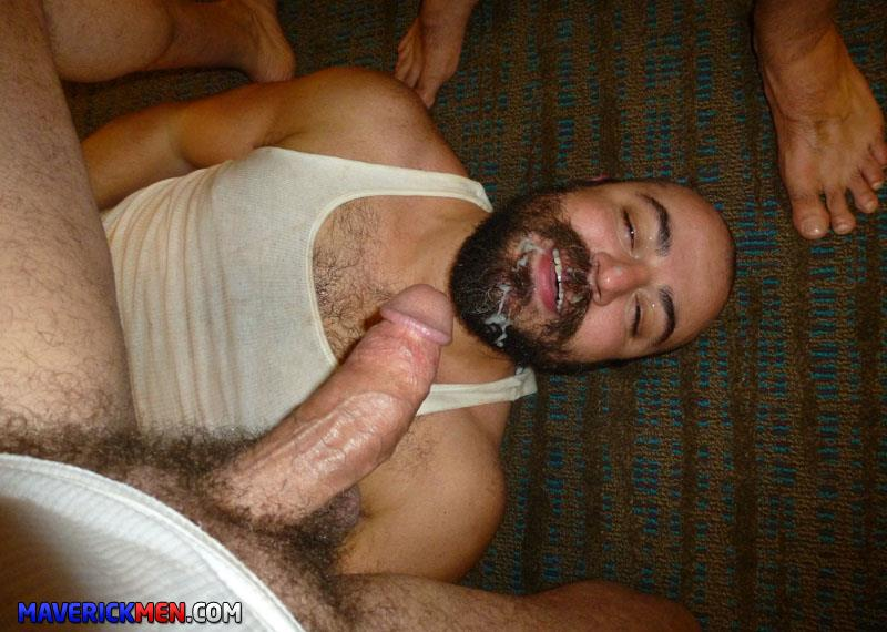 Maverick-Men-Grumpy-Hairy-Bear-Gets-Fucked-By-Two-Big-Daddy-Cocks-Amateur-Gay-Porn-2 The Maverick Men Bareback Tag Team A Hairy Bear Ass