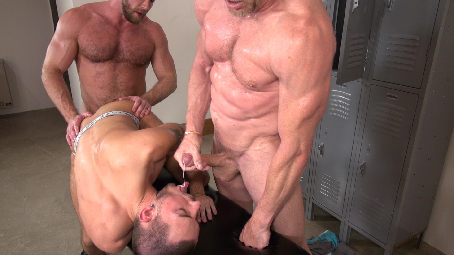 Raw and Rough Gio Ryder and Shay Michaels and Parker Jock Gets barebacked by two muscle daddy Amateur Gay Porn 07 Jock Sniffing Slut Gio Ryder Takes Bareback Cocks Up The Ass