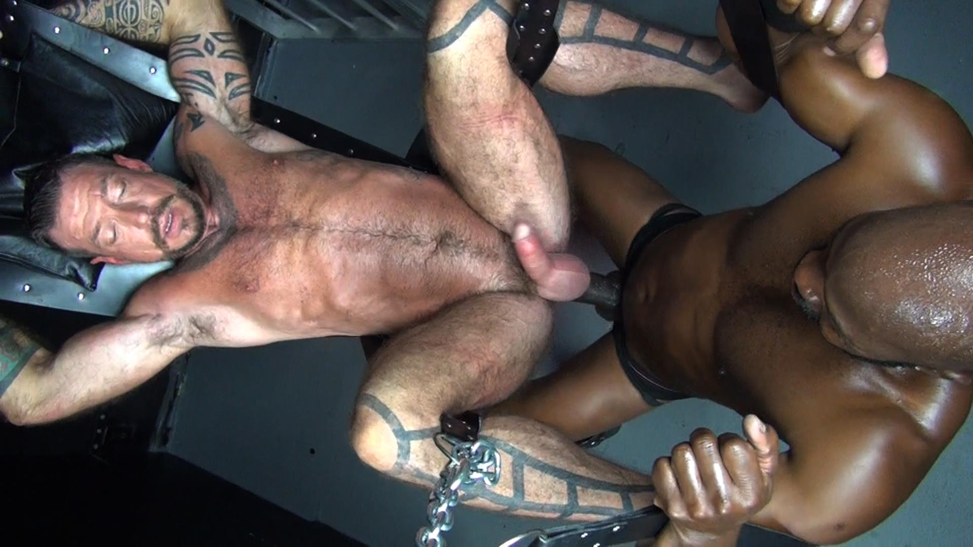 Raw-Fuck-Club-Cutler-X-and-Ray-Dalton-Interracial-Bareback-Sex-Amateur-Gay-Porn-2 Cutler X Barebacking Hairy Muscle Daddy Ray Dalton With His Big Black Cock