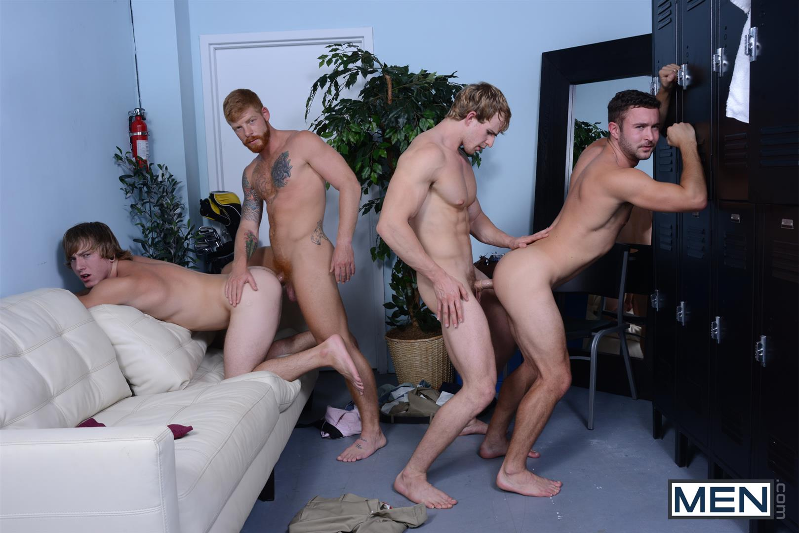 Men-Jizz-Orgy-Swingers-Bennett-Anthony-and-Cameron-Foster-and-Colt-Rivers-and-Tom-Faulk-Fucking-Bathroom-Amateur-Gay-Porn-32 Hung Golfing Buddies Fucking In The Bathroom and Clubhouse