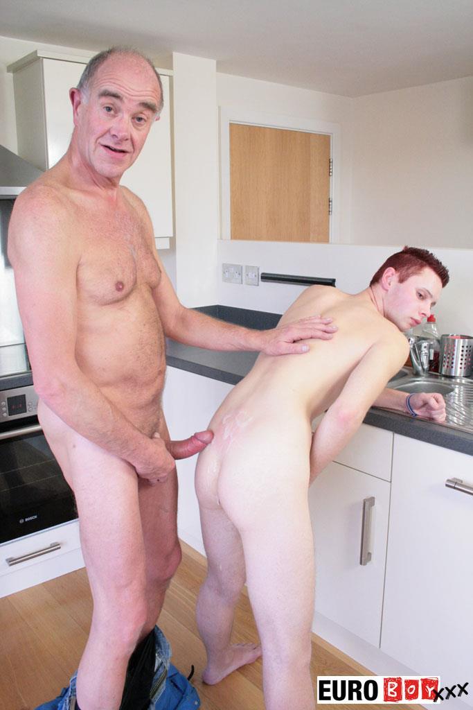 Euroboy-XXX-Aiden-and-Ben-Big-Uncut-Cock-Granddad-Fucking-Twink-Amateur-Gay-Porn-19 Granddad Bareback Fucks A 19 Year Old Twink With His Big Uncut Cock