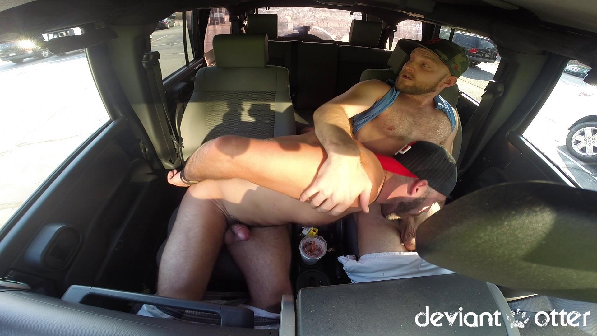 Deviant-Otter-Xavier-Sucking-Cock-In-Public-Hairy-Guys-Amateur-Gay-Porn-14 Masculine Hairy Guys Sucking Each Other's Cock In A Parking Lot