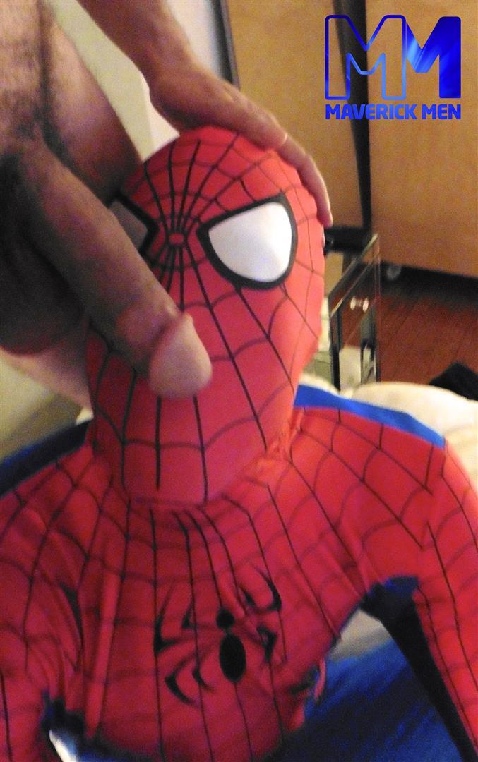 Maverick-Men-Spiderman-With-A-Big-Black-Dick-Bareback-Threesome-Amateur-Gay-Porn-07 Happy Halloween... Did You Know That Spiderman Has A Big Black Dick?