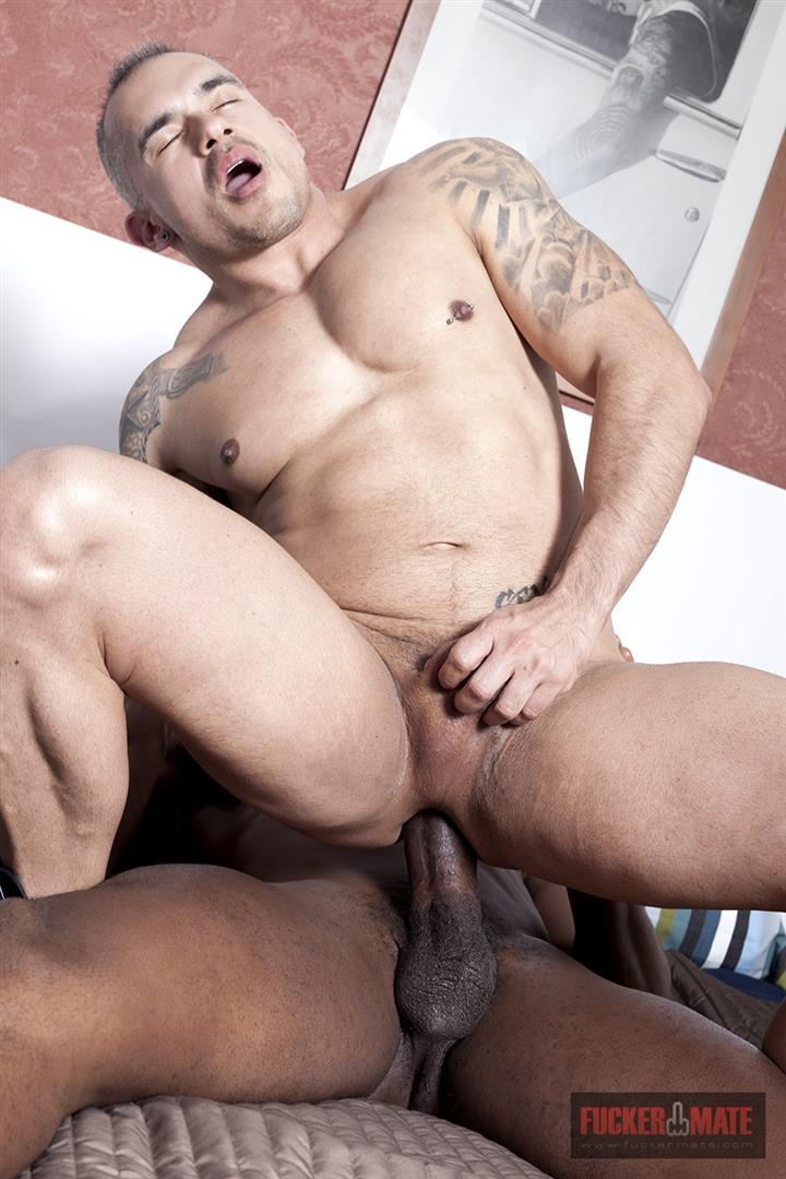 Fuckermate-Titan-and-Santi-Noguera-Big-Black-Dick-Barebacking-Muscle-Bottom-Amateur-Gay-Porn-8 Big Black Horse Cock Aggressively Fucks A White Muscle Bottom