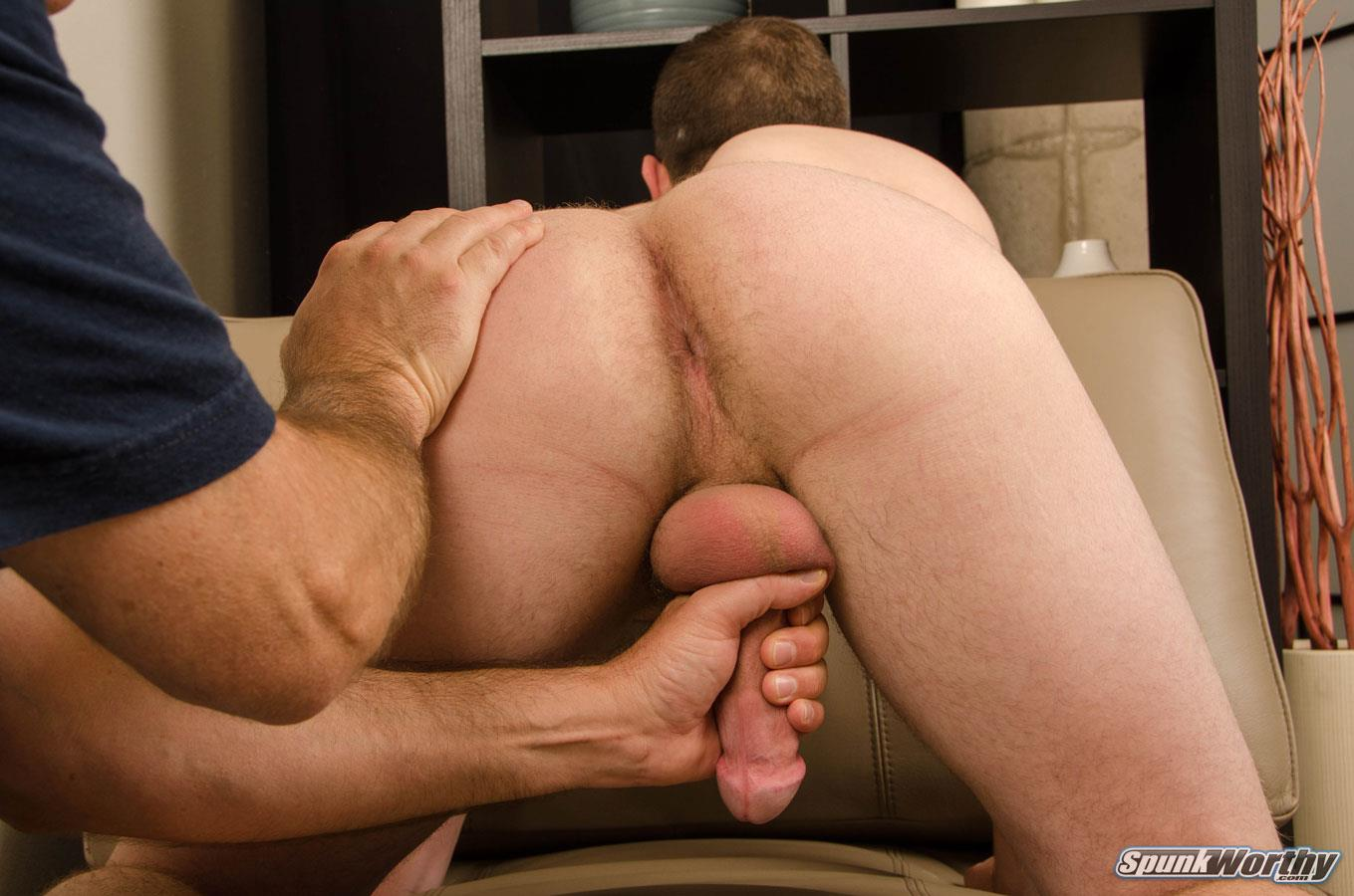SpunkWorthy-Oliver-Straight-Boy-First-Blow-Job-11 Fresh Faced Straight Boy Gets A Blow Job and Rimming