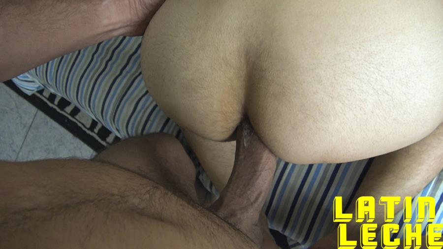 Latin-Leche-Straight-Latino-Big-Uncut-Cock-First-Time-Gay-Bareback-Sex-12 Big Uncut Dick Straight Latino Becomes A Gay Cum Dump For Money
