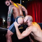 Raging-Stallion-Drake-Masters-and-James-Stevens-hairy-guys-cum-facial-10-150x150 Hairy Muscle Bear Drake Masters and Otter James Stevens Swap Cum Facials